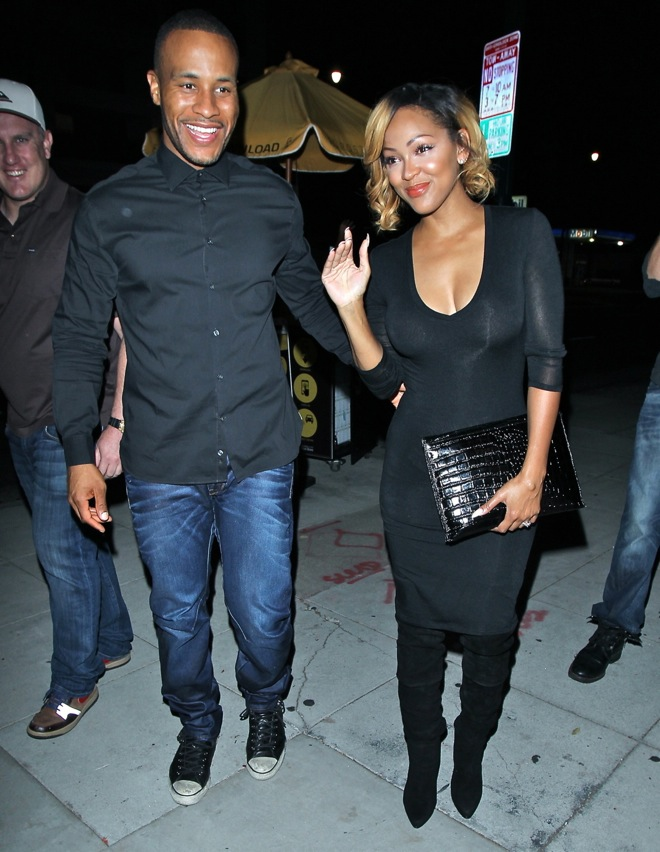 Megan Good and husband DeVon Franklin are all smiles as they go out and about in Los Angeles
