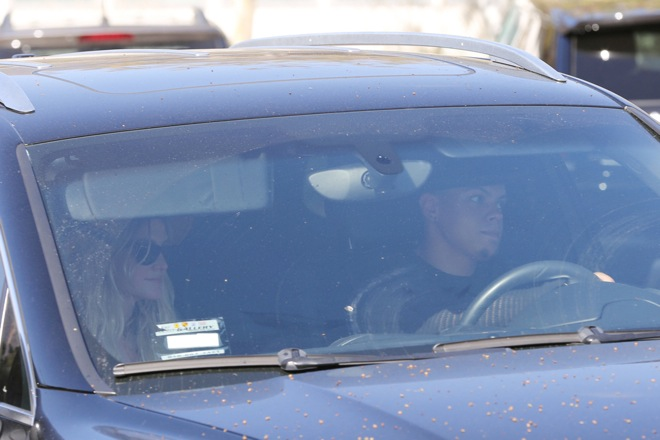 Ashlee Simpson and Evan Ross seen leaving Taverna Tony after having Lunch in Malibu