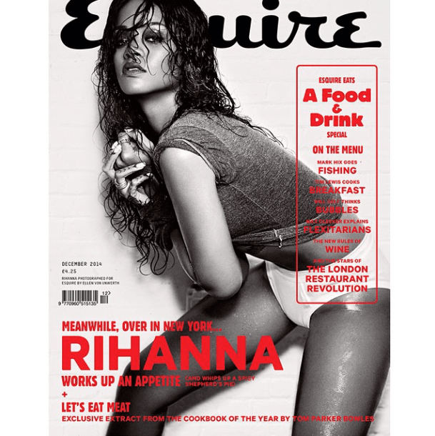 Rihanna covers the December issue of Esquire UK
