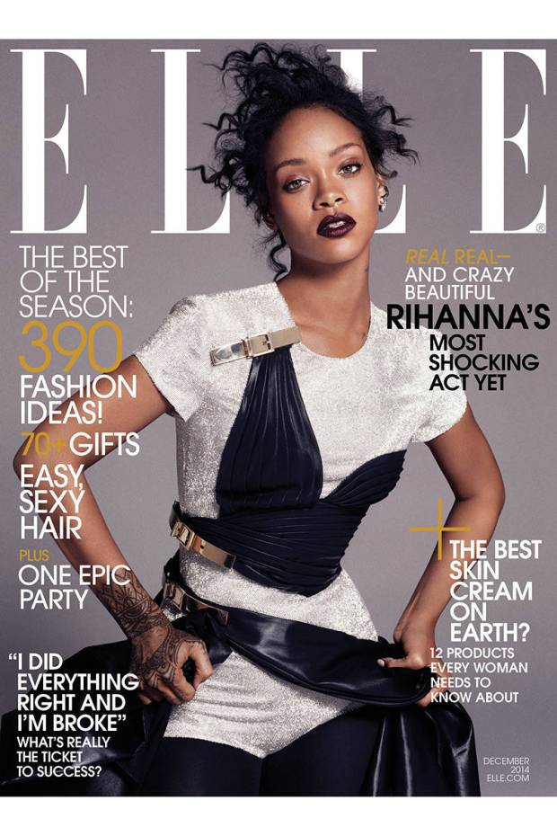 Cover Model!  Rihanna is back and wearing Versace.