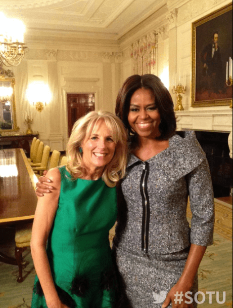 Michelle Obama and Jill Biden. Photo credit: Twitter @flotus