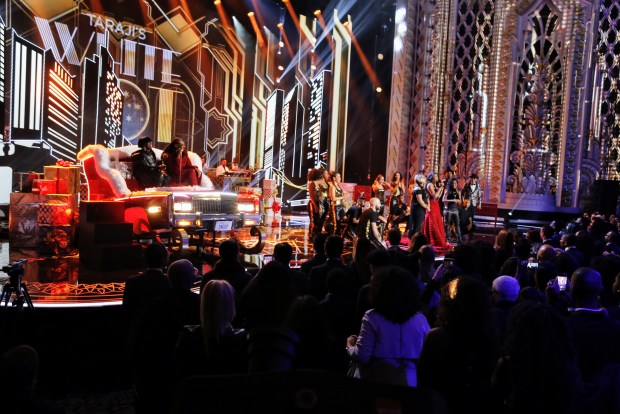 BEVERLY HILLS, CA - DECEMBER 08: Snoop Dogg BTS at Taraji's White Hot Holidays TV Special at the Saban Theatre as seen on Fox TV Thursday, December 8, 2016 in Beverly Hills, California. (Photo by A Turner Archives)