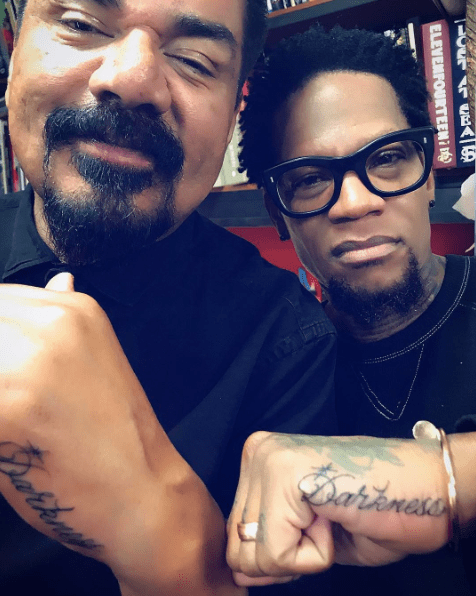 George Lopez and D.L. Hughley Get Charlie Murphy Darkness Tribute Tattoos