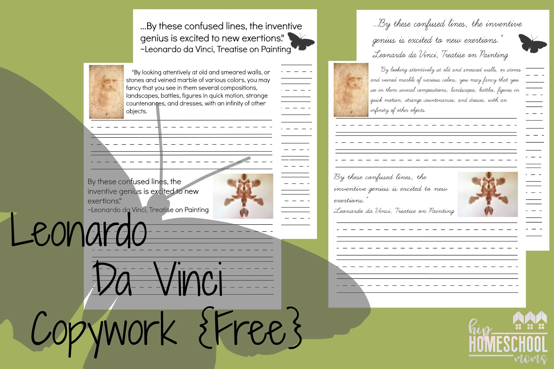Leonardo Da Vinci Copywork