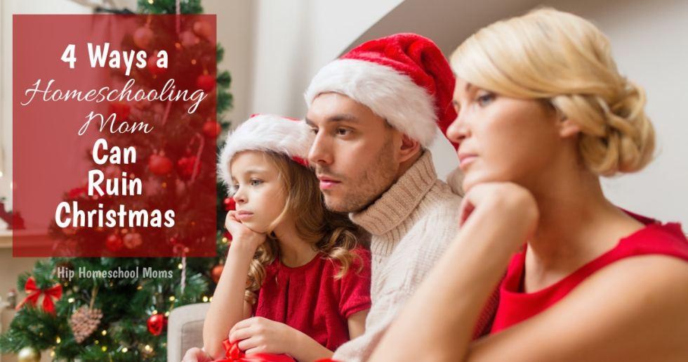 unhappy family at Christmas