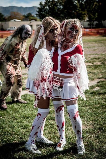 Zombie cheerleader costume ideas hip hoo rae the time to start thinking and looking for what you will wear on october 31st being one of the biggest holidays of the year you want to look awesome solutioingenieria Gallery