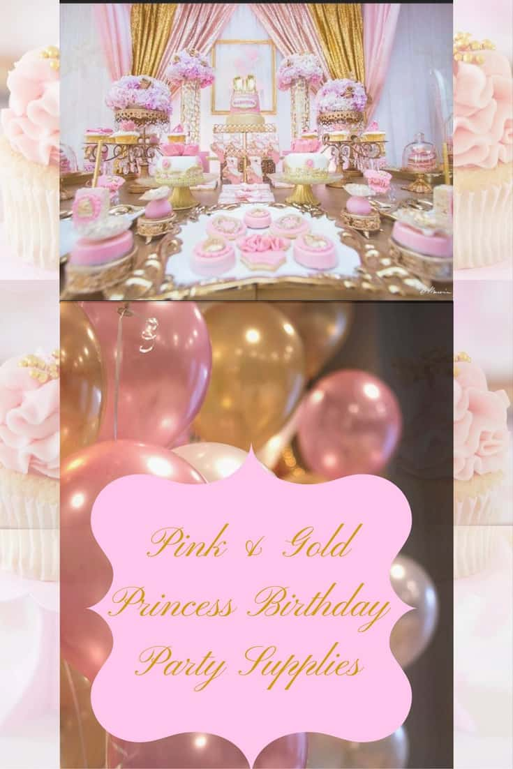 Pink Gold Princess Birthday Party Supplies Hip Hoo Rae