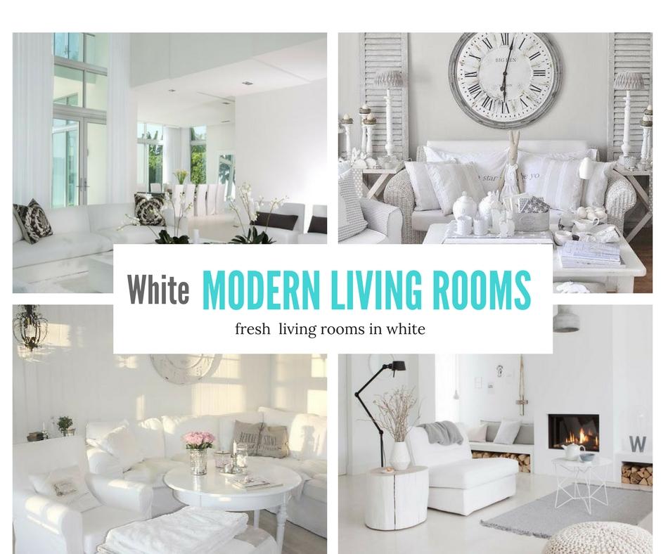 White Modern Living Room  Fresh Living Rooms In White