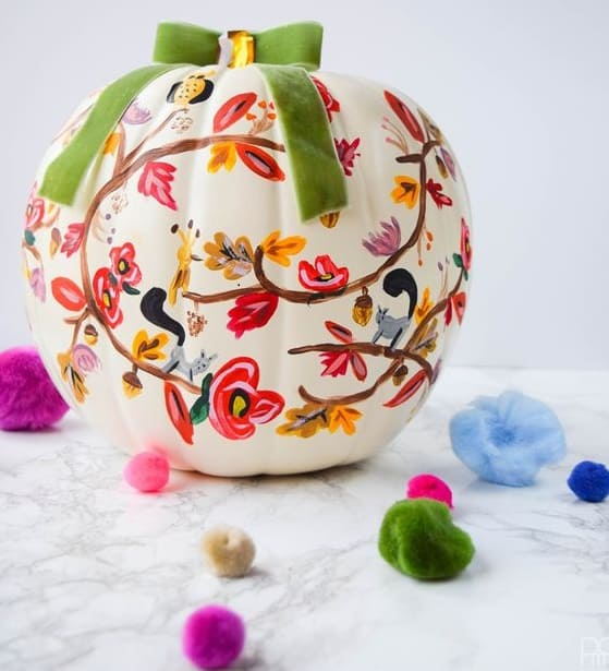 Just some ideas of how to hand paint your pumpkins to get a different look