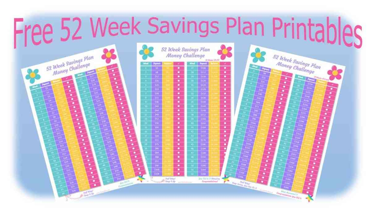 52 Week Saving Plan Money Challenge