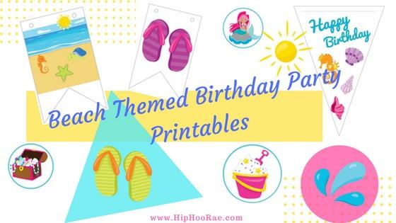 Beach Themed Birthday Party Printables