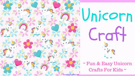 Unicorn Craft Fun And Easy Unicorn Crafts For Kids Hip Hoo Rae