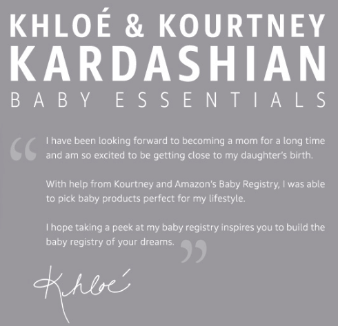 Kardashian Baby Essentials