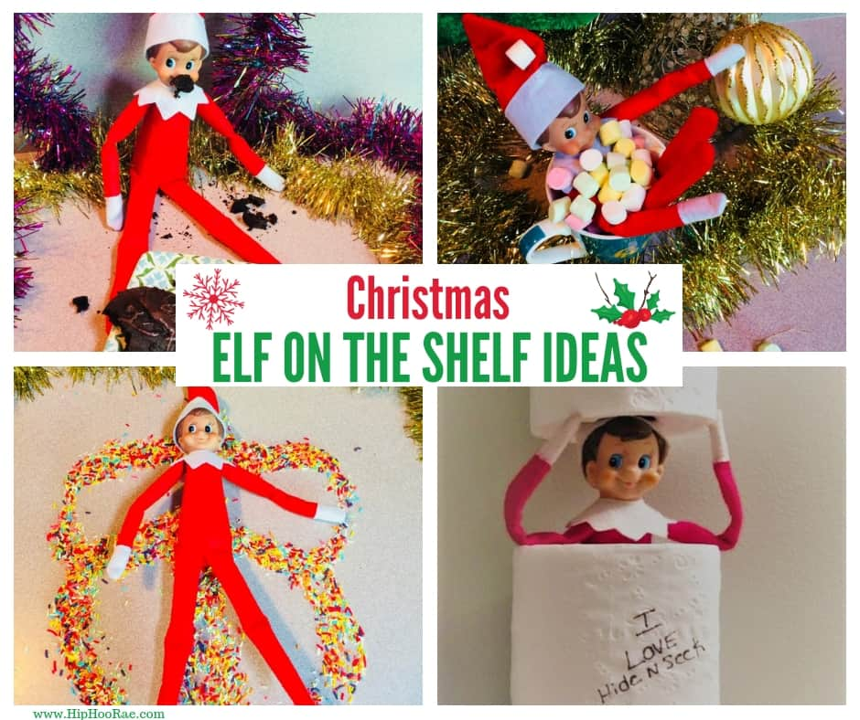 Christmas Elf on the Shelf Ideas - Easy and Funny Last Minute Ideas