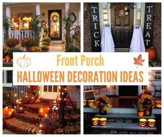 January Decorating Ideas: Front Porch Halloween Decoration Ideas (January 2019