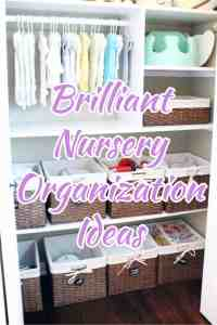 Nursery Closet that is organized