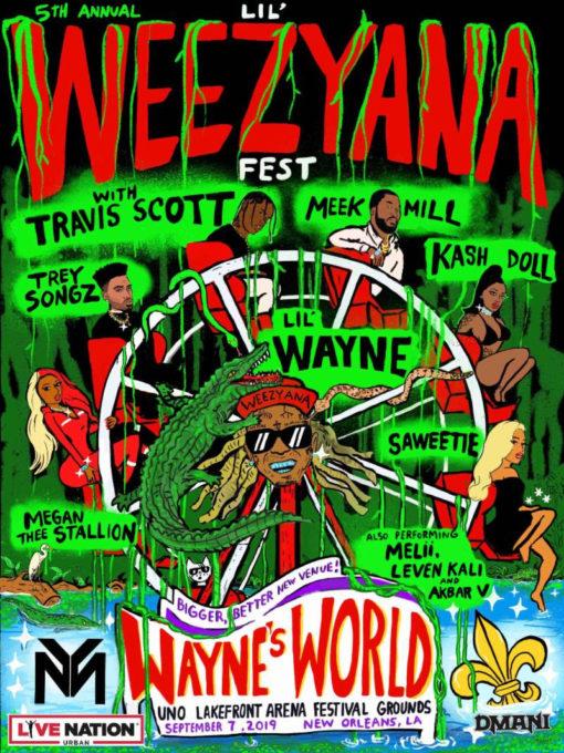 Watch Live Stream of Lil Weezyana Music Festival Ft. Lil Wayne, Travis Scott, Meek Mill & More-