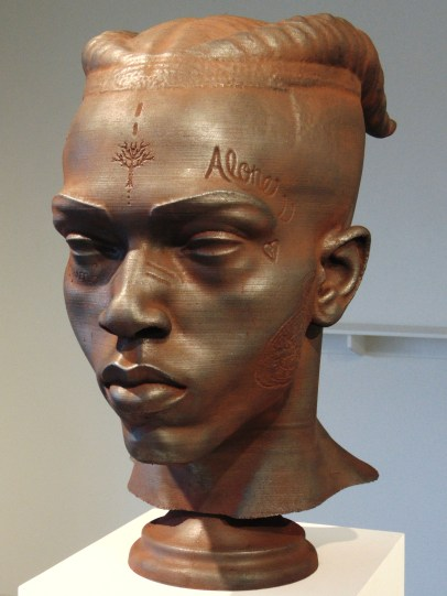 Rodman Edwards, XXXTentacion (large version), 2018-2019, Iron oxide and graphite on polylactide