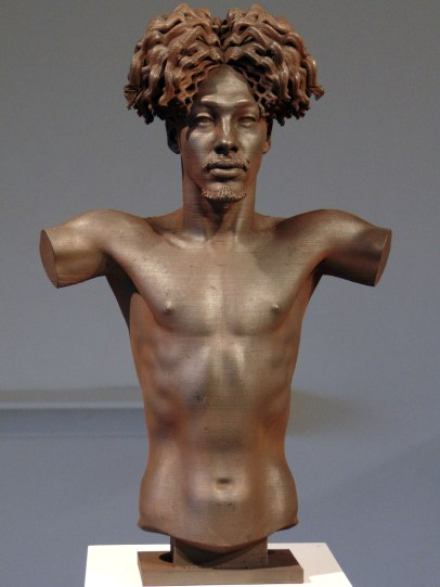Daniel Edwards, Wifisfuneral, 2019, Iron oxide and graphite on polylactide