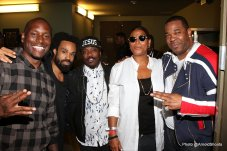 A General view of Tyrese as Official Mayor of 2015 BET Awards Weekend and VIP's (Photo by @ArnoldShoots) (L-R) Tyrese, Bilal, Anthony Hamilton, Queen Lafifah, Busta Rhymes