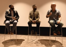 """LOS ANGELES, CA - AUGUST 16: Jamil Smith, David Oyelowo and Jacob Estes at the Ava Duvernay Hosted Special Screening of the Blumhouse film """"Don't Let Go"""" at the Amanda Theater at Array Creative Campus on August 16, 2019 in Los Angeles, California. (Photo by Scott Kirkland/Blumhouse/PictureGroup)"""