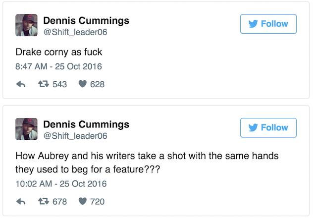 Kid Cudi's manager Dennis Cummings blasts drake