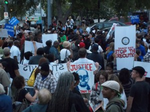 Crowd shot after march from Woodruff Park