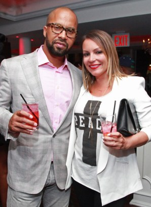 Kenny Burns and Angie Martinez