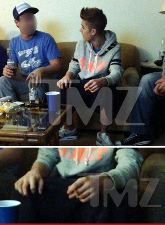 Justin smoking pot
