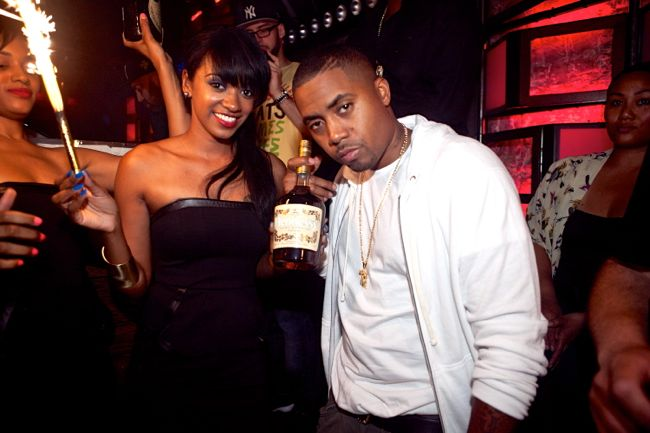Nas and Hennessy girl