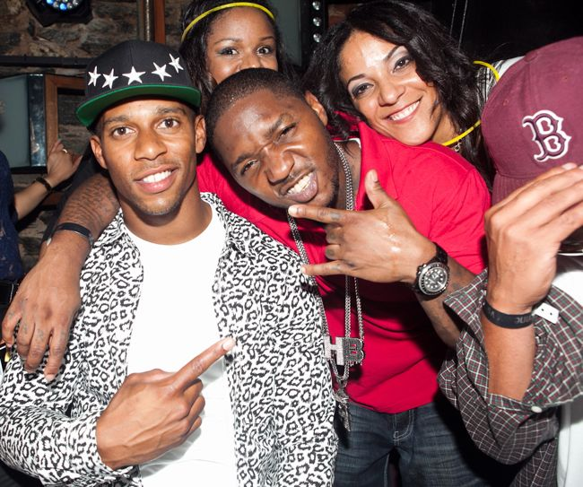 Victor Cruz, Lil Cease and Steph Lover