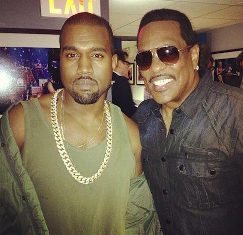 Kanye West and Charlie Wilson backstage