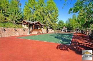 Drake house tennis court