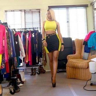 Nicki Minaj Collection commercial shoot