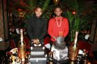 Trey Songz & Fabolous with Birthday Cakes