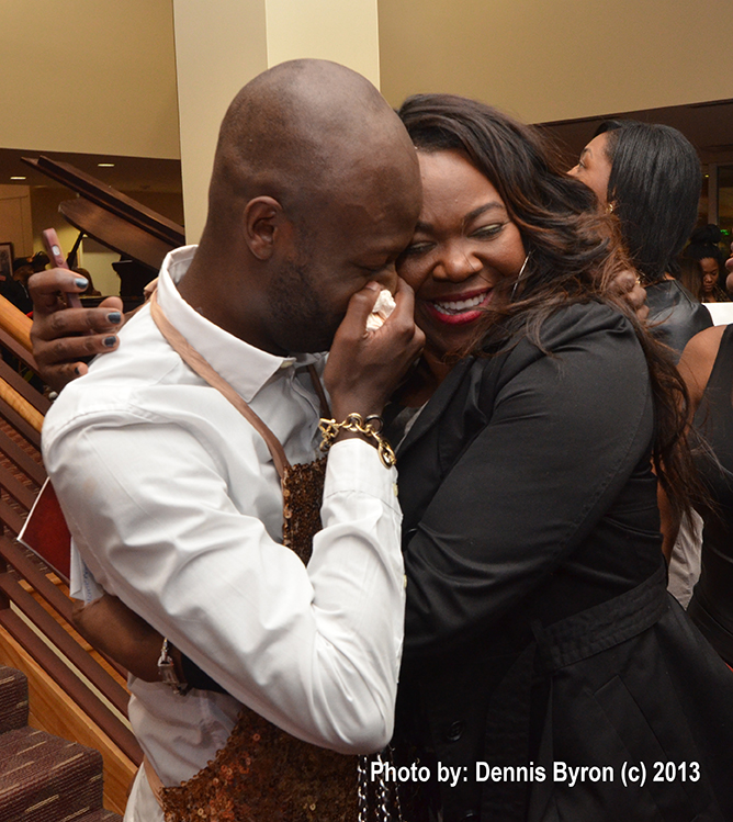 Michelle Brown with Actor/Blogger Funky Dineva