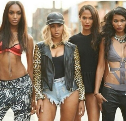 Jourdan Dunn, Beyonce, Joan Smalls, Chanel Iman
