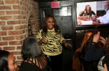 Geneva S. Thomas spills tea at Beautiful Textures Blood Sweat, and Heels Premiere Viewing and Dinner Party