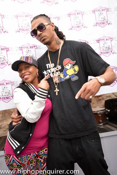 Tenisha P. with Memphis artist Snootie Wild