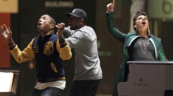Alicia, Kendrick, and Pharrell