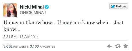 Minaj Tweet