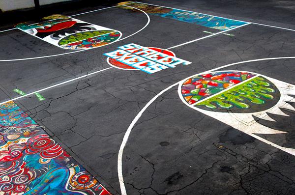 Street Execs Studios Outdoor Basketball Court