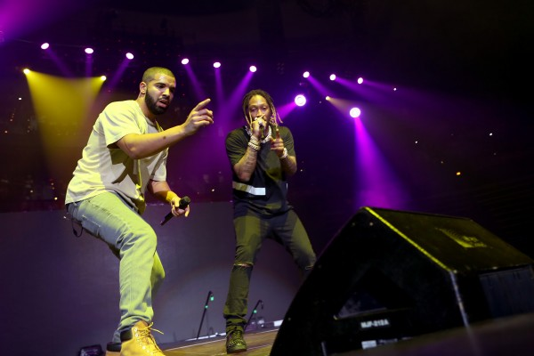 Future and Drake on stage at Hot 107.9's Birthday Bash 20