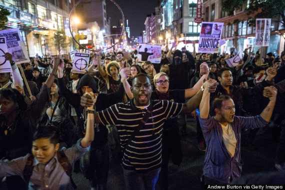 Activists In New York Respond To Ferguson Grand Jury Decision
