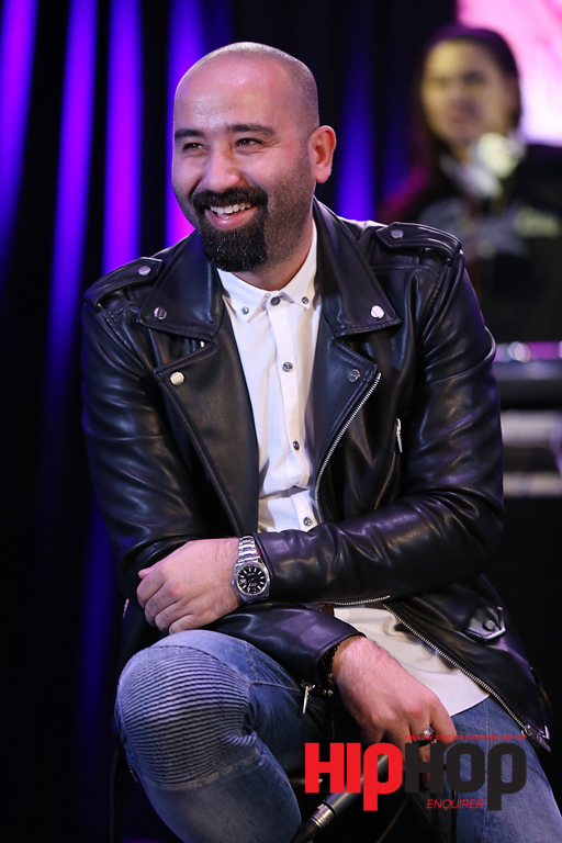 """LOS ANGELES, CA - FEBRUARY 13: Songwriter Bilal """"The Chef"""" Hajji speaks on stage at BMI's How I Wrote That Song Panel at Roxy on February 13, 2016 in Los Angeles, California.  (Photo by Joe Scarnici/Getty Images for BMI) *** Local Caption *** Bilal 'The Chef"""" Hajji"""