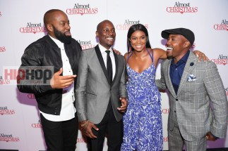 "ATLANTA, GA - OCTOBER 26: David E. Talbert, Tyrese Gibson, Gabrielle Union, and Will Packer attend ""Almost Christmas"" Atlanta screening at Regal Cinemas Atlantic Station Stadium 16 on October 26, 2016 in Atlanta, Georgia. (Photo by Paras Griffin/Getty Images for Universal Pictures)"