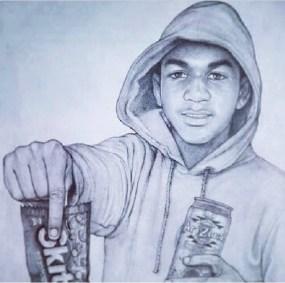Illustration of Trayvon Martin