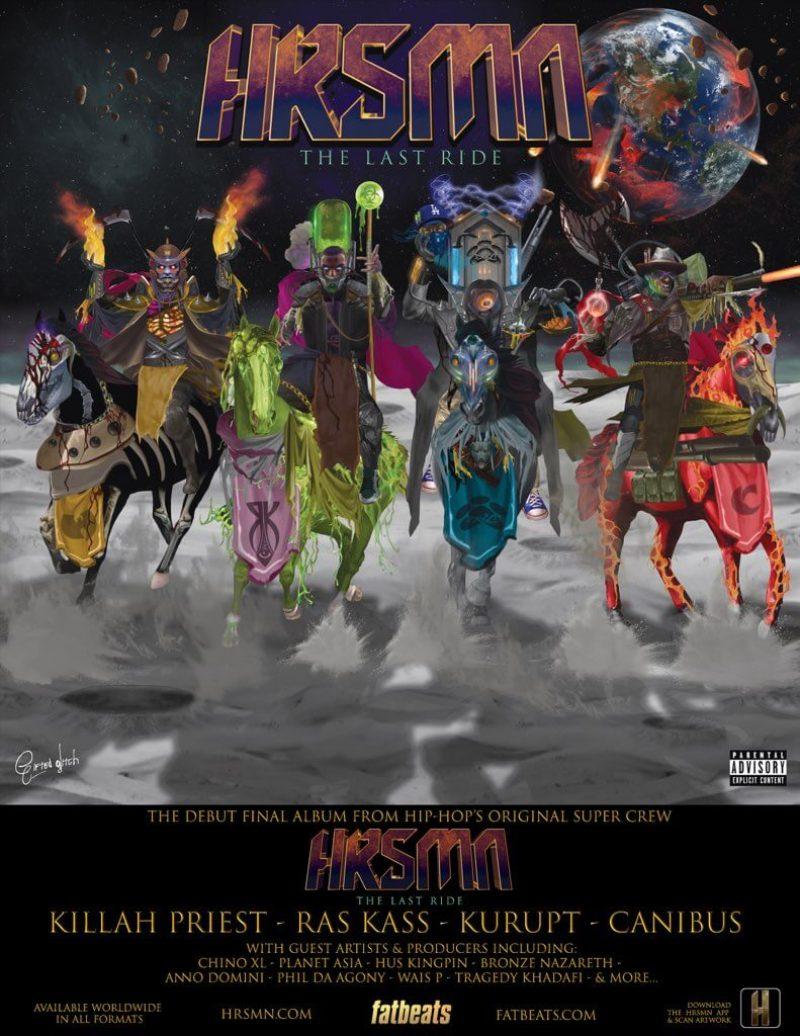 "HRSMN (Ras Kass, Kurupt, Killah Priest & Canibus) Announce New Album ""The Last Ride"""