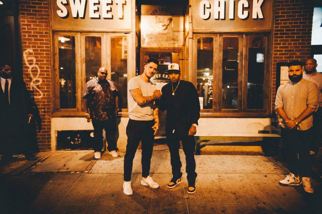 Nas en compagnie de John Seymour; cp-fondateur de Sweet Chick