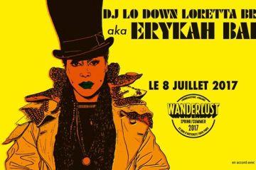 Ce samedi, le Wanderlust ouvre ses portes à Erykah Badu, la diva de la nu-soul américaine pour une performance prestigieuse dans la capitale.